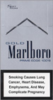 Marlboro Gold Prime Edge Super Slims 100s Cigarettes